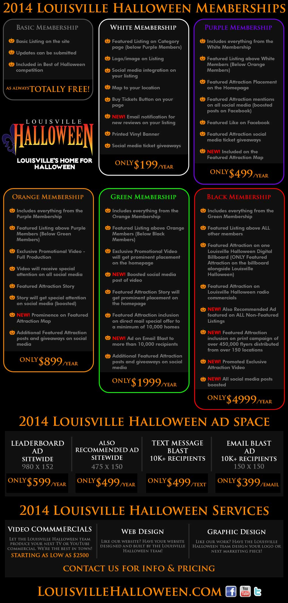2014 Louisville Halloween Advertising Options