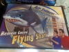 Flying inflatable remote control great white shark