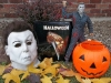 "Just Part of The Phantom of the Ville's ""Halloween"" Collection: Cinema Secrets 2002 Michael Myers Mask, Criterion LaserDisc Signed by John Carpenter and the McFarlane 18"" Action Figure!"