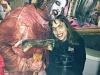 Lindsay Bacon makes friends with Psycho at Field of Screams!