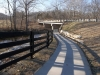 The new park path passes under Taylorsville Road.