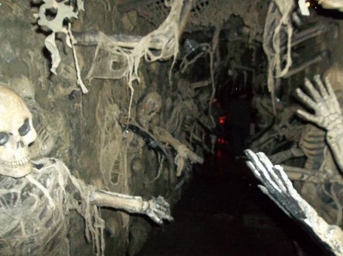The terrors of the transworld halloween and attractions for Haunted house hallway ideas