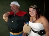 The father of the bride clearly ate his spinach!